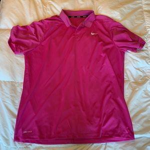 Nike golf polo dri fit shirt